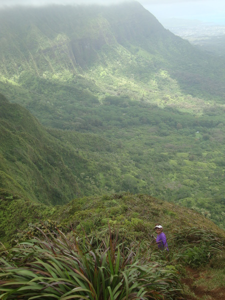 Looking Out Over the Eastern Side of Oahu