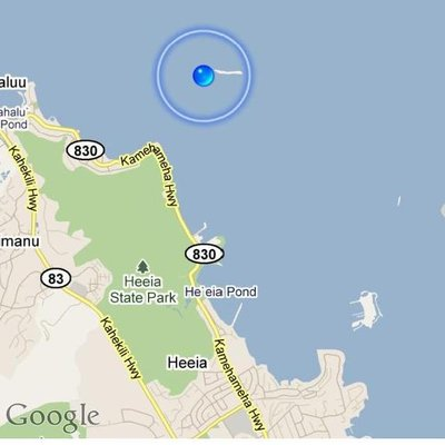 Location of Ahu O Laka