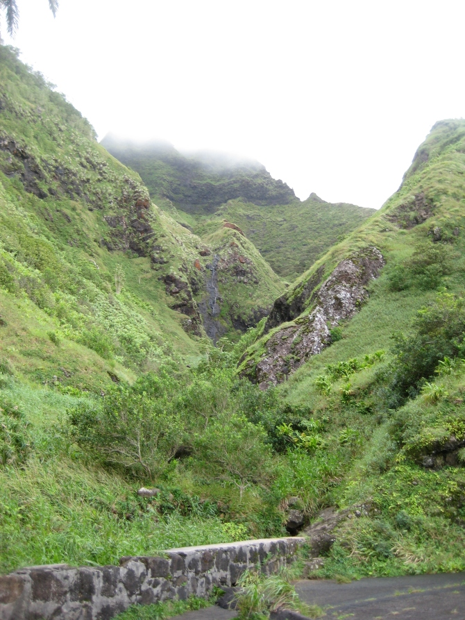 Pali Notches from Aiea Falls